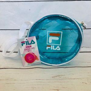 NWT FILA Circular Blue Transparent PVC Prue Bag